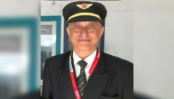 Deepak Vasant Sathe, expiloto de la Fuerza Aérea de India, es uno de los fallecidos en el accidente registrado este viernes en India.
