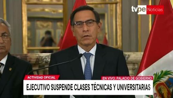 Las presentaciones de Martín Vizcarra elevaron la audiencia de TV del mediodía a niveles totalmente inusuales, informa Kantar.  (TV Perú)