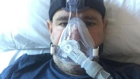 Abderrahmane Fadil se contagió de covid-19 y estuvo varios días en el hospital con oxígeno. (Cortesía)