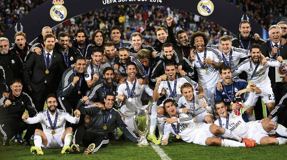Real Madrid celebró así el título de la Supercopa en Cardiff - 1