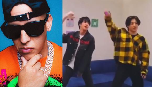 """Daddy Yankee y su reacción al ver a integrantes de BTS bailar su tema """"Con calma"""" (Foto: Instagram)"""