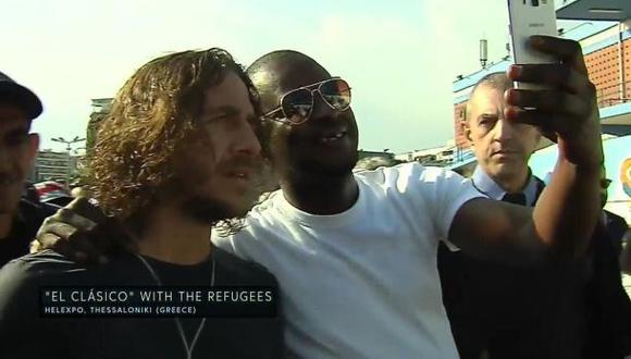 Facebook: Puyol vio el Real Madrid-Barcelona con mil refugiados