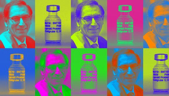 """""""Hoy sabemos que Vizcarra nunca tuvo ficha ni registro de voluntario y que pidió que lo vacunaran en Palacio de Gobierno"""". (Ilustración: Giovanni Tazza)"""