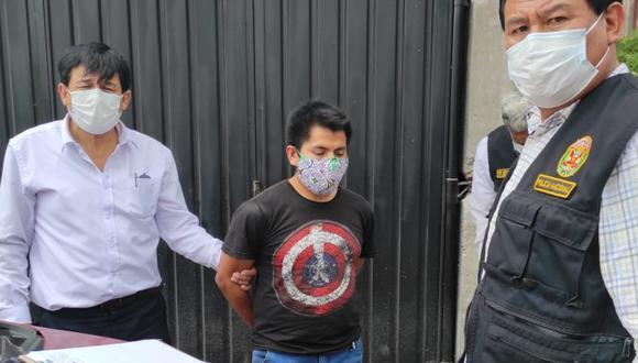 El acusado chantajeaba a su víctima con difundir fotos íntimas a través de las redes sociales. (Foto PNP)