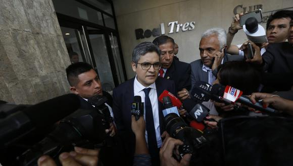 José Domingo Pérez encabeza allanamiento a oficina de la Confiep. (Foto: Violeta Ayasta / GEC)