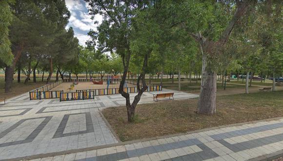 Imagen de un parque de juegos en Perales del Río, Getafe (Google Street View)