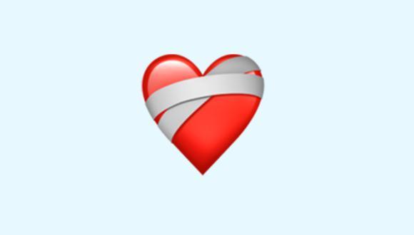 ¿Alguna vez te mandaron el emoji del corazón vendado o mending heart en WhatsApp? (Foto: Emojipedia)