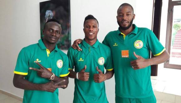 Sadio Mané y otros integrantes de la selección de Senegal. (Foto: Sadio Mané Facebook)