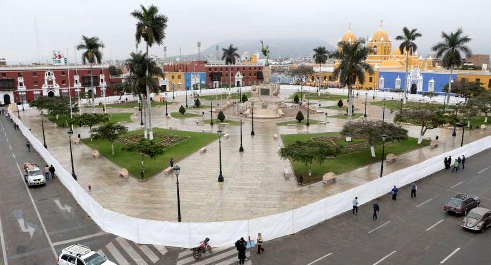 El 29 de diciembre de 1820, José Bernardo Torre Tagle proclamó la independencia de Trujillo,la primera en el Perú, en esta misma plaza (Foto: Johnny Aurazo)