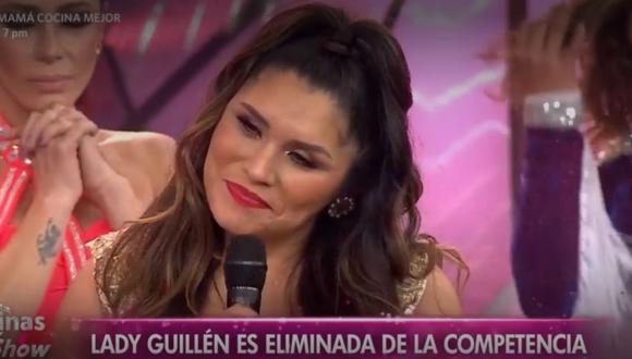 """La exconductora de """"Tengo algo que decirte"""" fue la primera eliminada de la segunda temporada del reality. (Foto: captura de América TV)"""