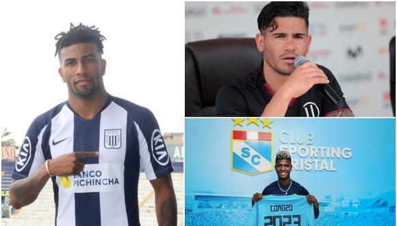 Dos Santos, Ascues y Corozo comandan la lista de los refuerzos que más expectativa generan en la Liga 1 | Foto: Agencias