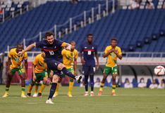 Francia venció 4-3 a Sudáfrica con triplete de Gignac por los Juegos Olímpicos Tokio 2020   VIDEO