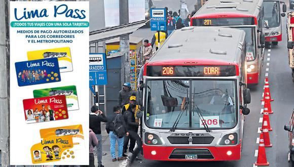 La tarjeta Lima Pass podrá ser utilizada en los corredores y en el Metropolitano. (Archivo / Lino Chipana)
