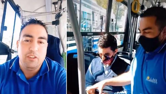 """Un conductor de colectivo decidió dar a conocer cuáles son los asientos """"más robables"""" en un transporte público. (Foto: @dani45oficial / TikTok)"""