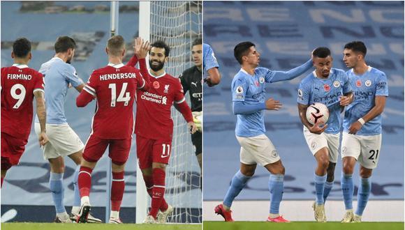 Mohamed Salah y Gabriel Jesus marcaron en el Manchester City vs. Liverpool | Fotos: Agencias
