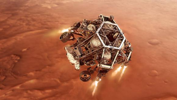 Cómo será el aterrizaje en Marte del robot explorador Perseverance. (NASA)