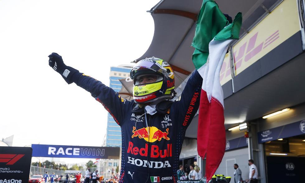 Sergio Pérez ganó el GP de Azerbaiyán 2021 | Foto: REUTERS