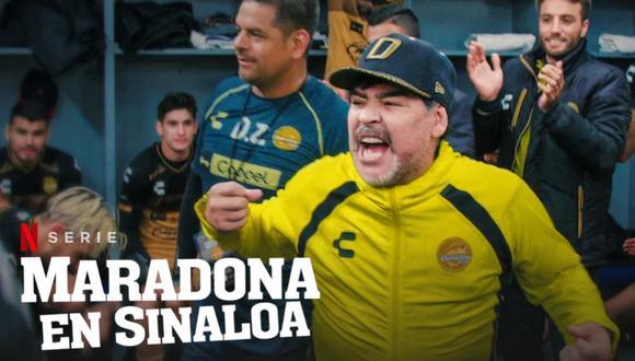 Diego Armando Maradona protagonizó documental sobre una etapa de su vida para Netflix. Foto: Difusión.