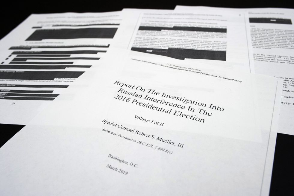 Varias partes del informe de Robert Mueller fueron censuradas. (AP).