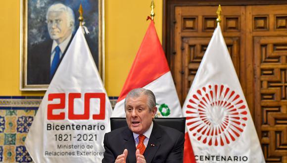 Maúrtua juró como nuevo canciller el 20 de agosto, tras la abrupta salida de Héctor Béjar de ese ministerio. También fue parte del equipo de transferencia de Castillo. (Foto: Cancillería)