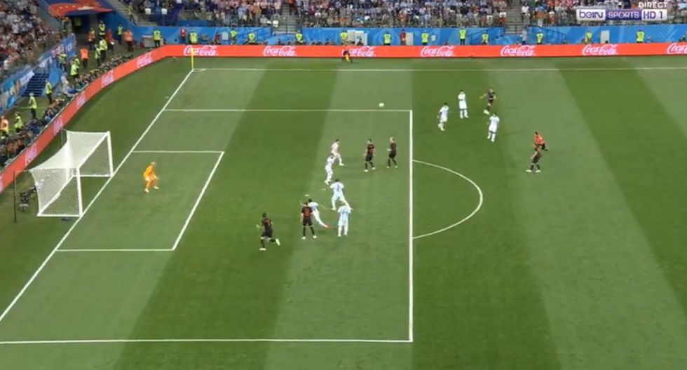 Argentina vs. Croacia: Mandzukic erró gran opción de gol en duelo por el Mundial Rusia 2018. (Foto: Captura de video)