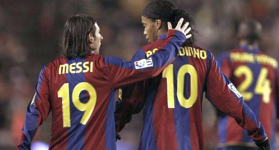 Ronaldinho y el tierno saludo a Lionel Messi por su cumpleaños