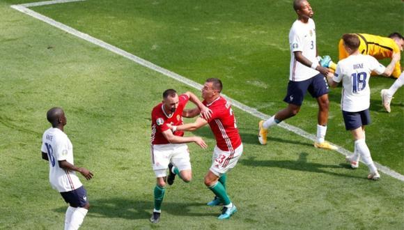 Hungría sorprendió a todos y empató 1-1 con Francia por la Eurocopa. Attilo Fiola fue el autor del tanto húngaro. (Foto: AFP)