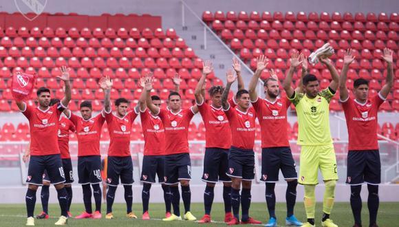 Independiente en su último partido en Avellaneda a puertas cerradas por el coronavirus. (Foto: Twitter Independiente)