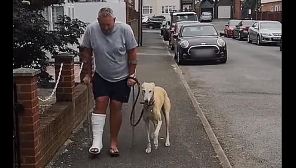 Gasta 400 dólares en exámenes para su perro cojo y descubre que solo lo imitaba. (Foto: NTD Television / Facebook)