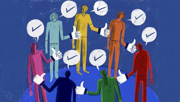 La burbuja en la que nos envuelven las redes sociales se ha hecho evidente en estas elecciones (Ilustración: Víctor Aguilar)