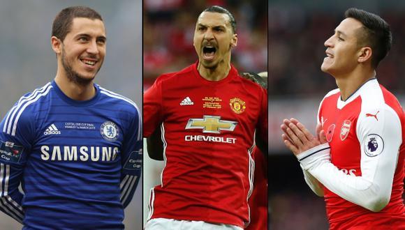 Hazard, Zlatan y Alexis, candidatos a jugador de la Premier