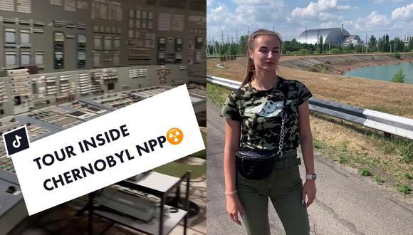 Una mujer, llamada Nataly, ha estado compartiendo videos desde el interior de la zona de exclusión, que se han visto millones de veces (Foto: TikTok)