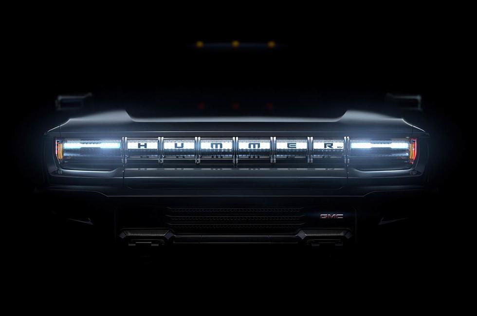 El Hummer EV, el nuevo eléctrico de GMC, mantendrá la clásica parrilla de la marca con seis entradas de aire.
