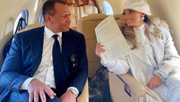 Alex Rodríguez vivió un inolvidable momento con Jennifer Lopez en el avión que los sacó de Washington y gracias a eso la admira aún más. (Foto: @arod / Instagram)