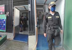 Coronavirus en Perú: cámara de desinfección fue instalada en comisaría de Chincha