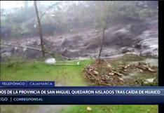 Cajamarca: huaico por intensas lluvias deja aislados a los residentes de la provincia de San Miguel