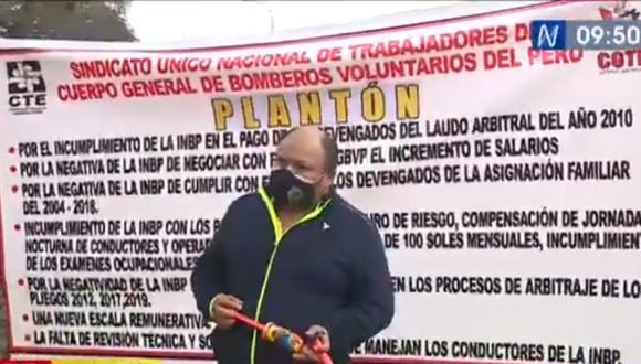 Miembros del SUNT-CGBVP exigen una nueva escala remunerativa, entre otros   Foto: Captura de video / Canal N