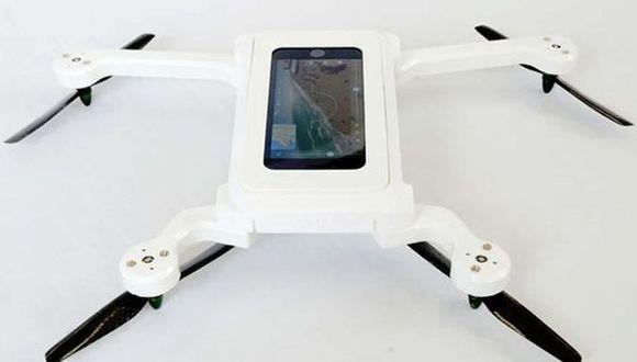 Crean carcasa que convierte un smartphone en un dron
