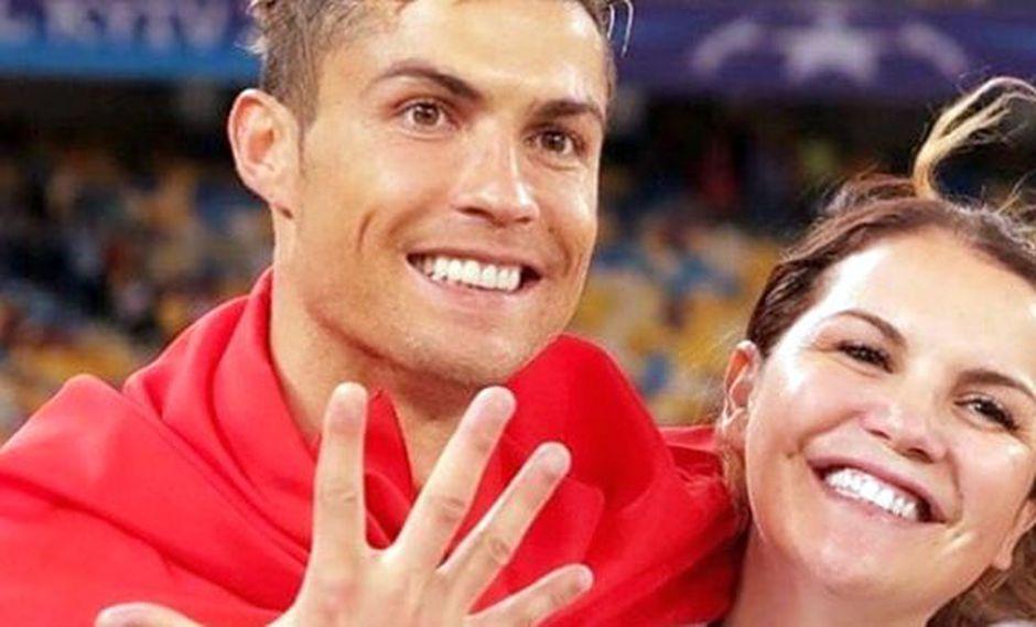 Katia Aveiro y su hermano, Cristiano Ronaldo. (Foto: Instagram)