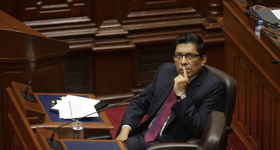 En la foto, el entonces ministro de Justicia, Vicente Zeballos, es interpelado por el anterior Congreso, en marzo del 2019. (Foto: GEC).