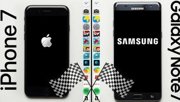 Una competencia entre el Galaxy Note 7 y el iPhone 7 [VIDEO]