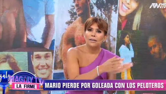 "Magaly Medina a Mario Irivarren por ampay de Ivana Yturbe: ""Lo partió nuevamente un pelotero""  (Foto: captura)"