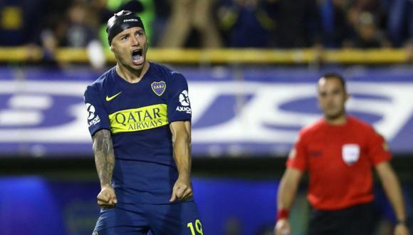 Mauro Zárate se encargó de colocar uno de los penales que le dio la clasificación a Boca Juniors frente a Vélez Sarsfield a las semifinales de la Copa de la Superliga argentina (Foto: agencias)