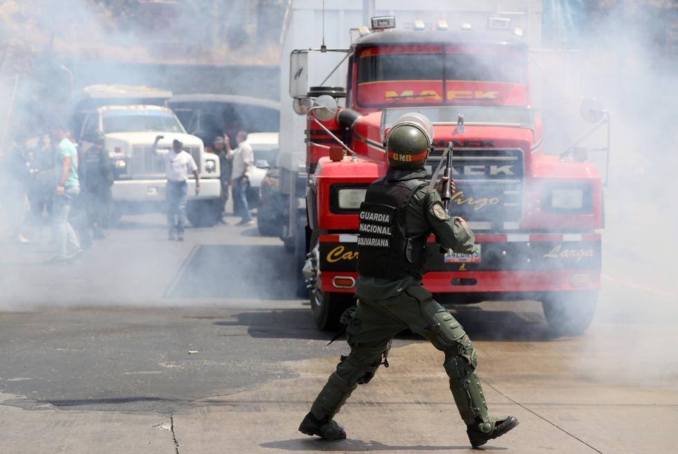 Caravana de Juan Guaidó se dirige a la frontera con Colombia para recibir ayuda humanitaria. Foto: Reuters