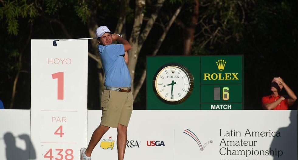 Julián Périco, el mejor golfista peruano del Latin America Amateur Championship 2020. (Foto: Enrique Berardi / LAAC)