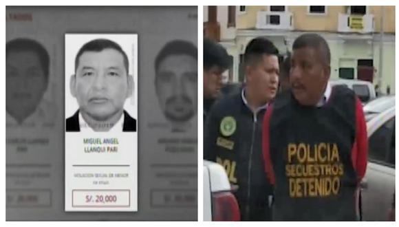 Mininter ofrecía S/ 20.000 por la captura del ex militarMiguel Ángel Llanqui Pari. (Captura: América Noticias)