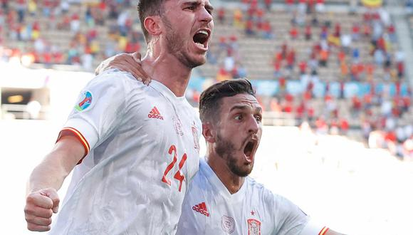 España - Croacia en directo por los octavos de final de la Eurocopa 2020.   Foto: AFP