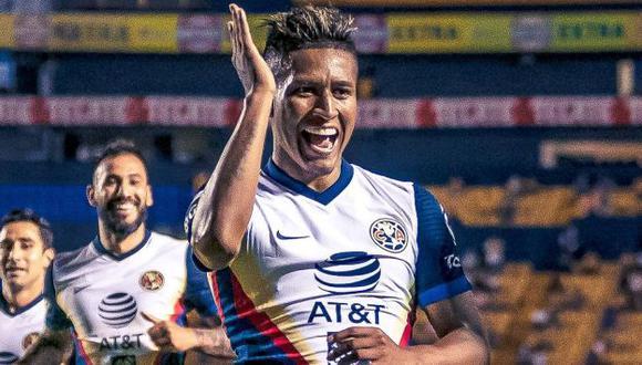 Pedro Aquino tiene 3 goles en 11 partidos en el Guard1anes 2021. (Foto: Club América)