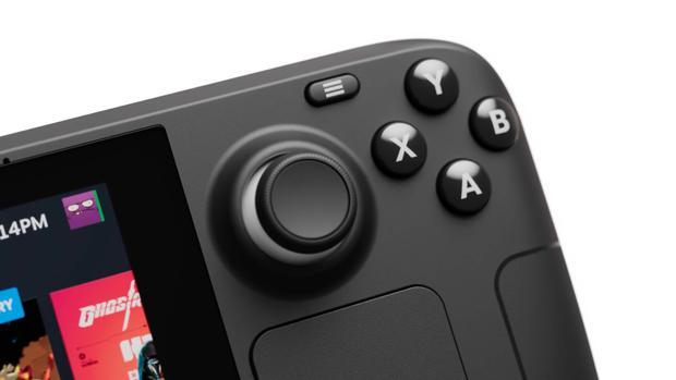 Steam Deck Valve akan menampilkan joystick layar sentuh dan panel kontrol.  (tangkapan layar)