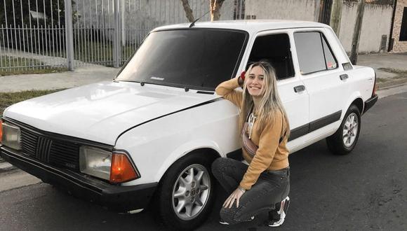 Luly Basile quería, desde hace muchos años, poseer un Fiat 128. (Foto: @lulybasile | Instagram)